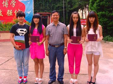 北京就业学生回校看望韩校长