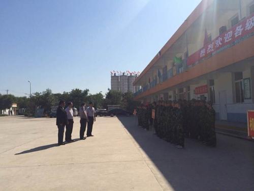 朔州校区举行新生军训汇操表演